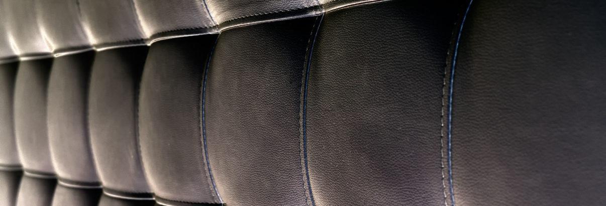 Tête de lit en cuir noir