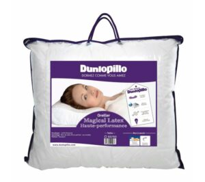 Oreiller Dunlopillo dans son packaging