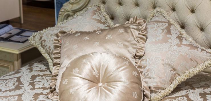 tete de lit capitonnée blanche baroque