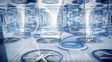 illustration 3D de la ventilation d'un matelas à ressort