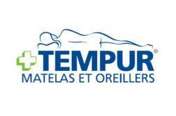 Logo de la marque de matelas mémoire de forme Tempur