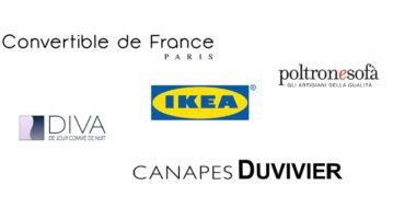Logo de marques connu de canapé convertible