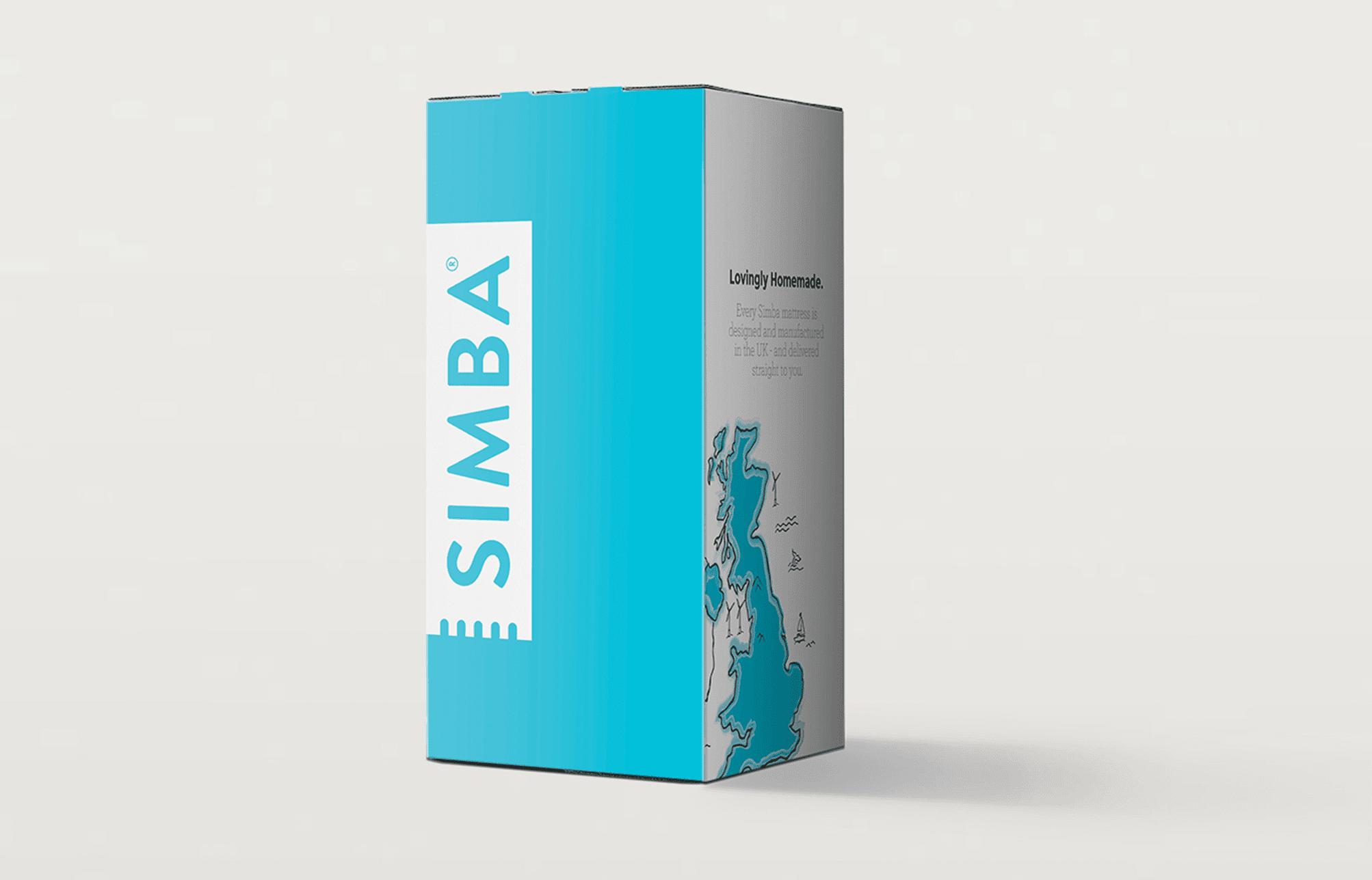 Simba matelas : le carton d'emballage